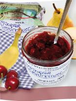 Marmeladensorte Schwarzkirsch-Pfirsich