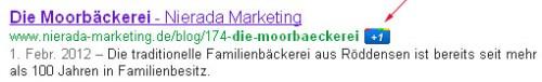 Google Plus Einbindung Webseite